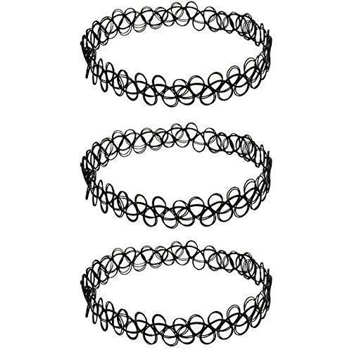 3-x-choker-necklace-black-set-tatto-henna-jewelry-necklace-set-of-3-black-vintage-gothic-stretch-ela