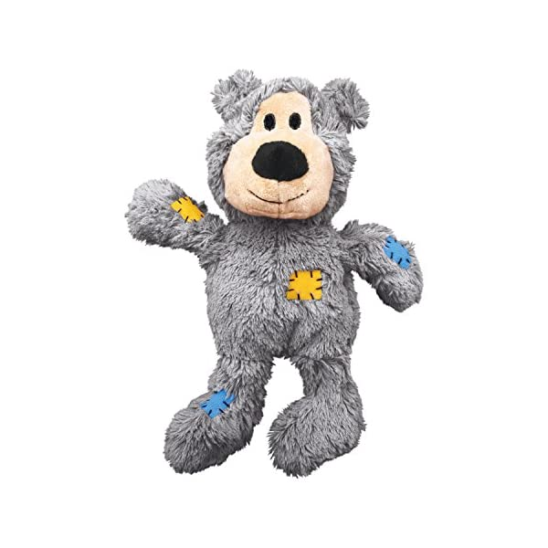 KONG – Wild Knots Bear – Internal Knotted Ropes and Minimal Stuffing for Less Mess (Assorted Colours) – for Medium/Large… Click on image for further info. 2