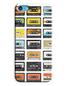 Colourful Retro Cassettes Case for your iPhone 5C