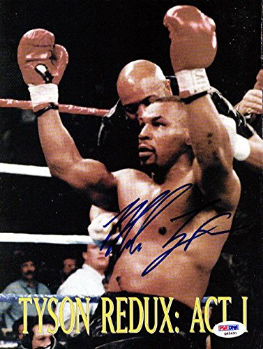 Mike Tyson Autographed Signed Magazine Page Photo Vintage Q65491 PSA/DNA Certified Autographed Boxing Magazines