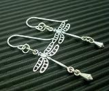 Dragonfly Earrings in Sterling Silver by Cloud Cap Jewelry