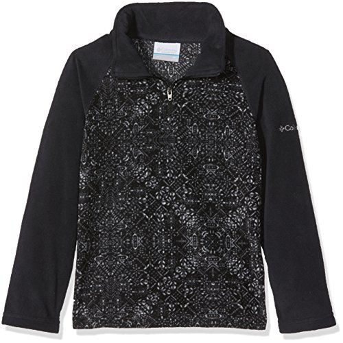 s' Glacial Ii Printed Fleece Half Zip Jacket, Black Snowflake, XX-Small (Black Snow Fleece)