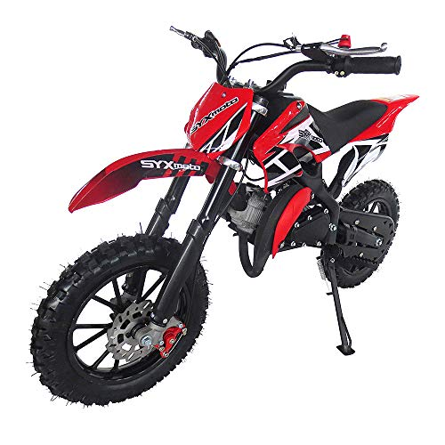 SYX MOTO Kids Dirt Bike Holeshot 50cc Gas Power Mini Dirt Bike Pit Bike Fully Automatic Transmission