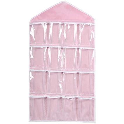 TINGSU - Bolsas de almacenamiento, 16 bolsillos, organizador de almacenamiento para sujetador, sujetador