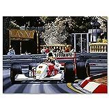 Ayrton Senna Monaco Lithograph