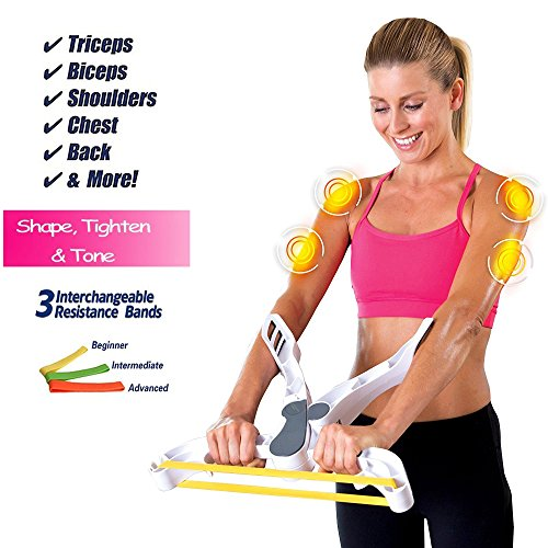 Victosoaring Arm Exercise Equipment,Arm Workout Machine with 3 Arm Resistance Bands
