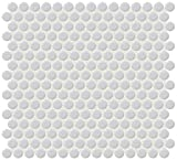 Dal-Tile 11PNYRDMS1P -RR12 Retro Rounds Tile, 1'' x 1'', Smoky Gray