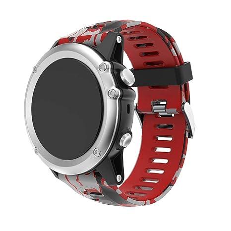 Gusspower Garmin Fenix 3 Correa de Reloj, reemplazo Respirable Suave del silicón Pulsera Hermosa Deporte