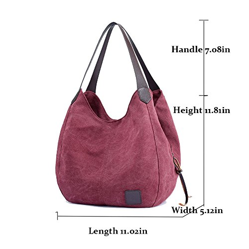 Multi Travel Day Prime Bags Handbags Cotton for 2018 Deals Girls Totes Purses pocket Teen Women's Canvas Christmas Week Fashion Clearance Shoulder Red Casual Sale Gifts qzwqdxTAr