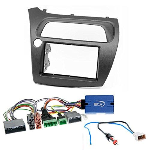 120/Kit de 2/Fa/çade autoradio double DIN Dash Kit dinstallation pour LP avec volant T/él/écommande et Adaptateur dantenne... CARAV 11