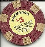 $5 pechanga casino chip obsolete rare red & yellow offers
