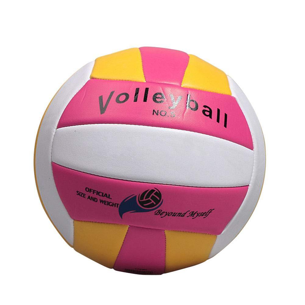 Su-luoyu Balón de Voleibol, PU Voleibol de Entrenamiento para Interiores y Exteriores(Azul,Rojo) PU Voleibol de Entrenamiento para Interiores y Exteriores(Azul Rojo)