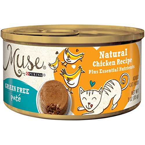 Muse By Purina Pate Natural Chicken Recipe Adult Wet Cat Food - (24) 3 Oz. Cans ()