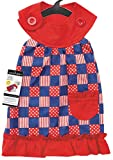 Cheap Zack & Zoey Patriotic Pooch Patchwork SPF Dress for Dogs, 8″ XX-Small