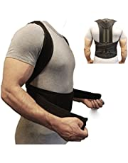 ZSZBACE Back Brace Posture Corrector Fully Adjustable Back Support Belts Improves Posture and Provides Lumbar Support for Lower and Upper Back Pain Men and Women (XXL)