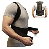 ZSZBACE Back Brace Posture Corrector Fully Adjustable Back Support Belts Improves Posture and Provides Lumbar Support for Lower and Upper Back Pain Men and Women (S)