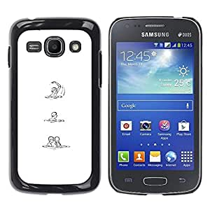 Ihec Tech Blanco Negro Sketch Amor Mujer Hombre / Funda Case back Cover guard / for Samsung Galaxy Ace 3