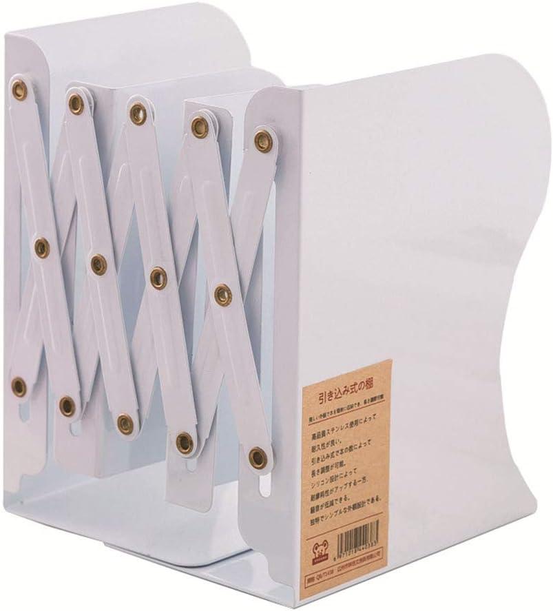 DragonPad Katalogsammler Ordnerregale Standfest Metall Bookends verstellbar Faltbar Buchhalter B/ücherregal f/ür Zuhause Arbeitzimmer B/üro Wei/Ã/Ÿ