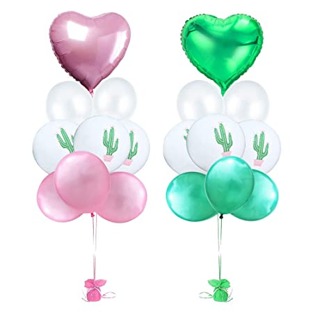 Amosfun Love Heart Balloon Globos de látex Color Puro Globos ...