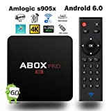 【Android 6.0 OS】2017 GooBang Doo ABOX Pro TV Box with Newest RF Remote Control (15 Meters Working Range, 360°Full Control, No need to Point at TV Box)