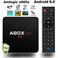 Refurbished 2018 GooBang Doo ABOX Pro Android 6.0 TV Box with Newest RF Remote Control and Truly 4K/60FPS Playing