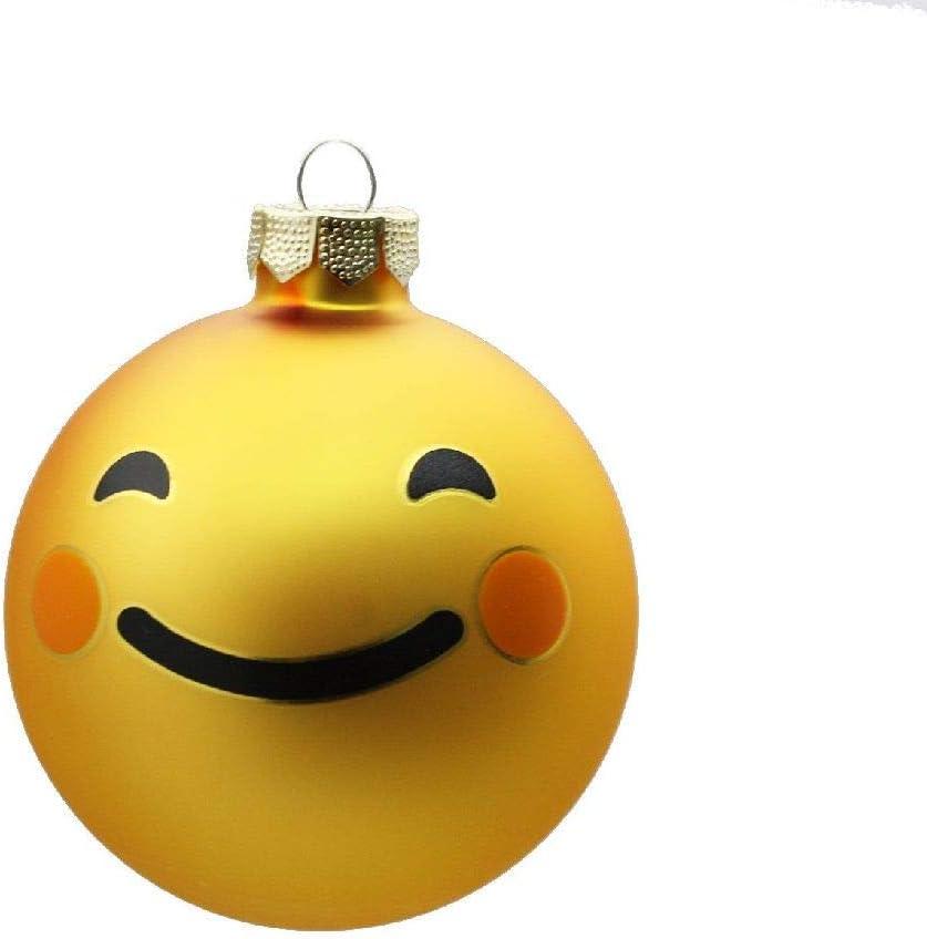 Decpero - Bola de Cristal con diseño de Emoticono, 8 cm de diámetro