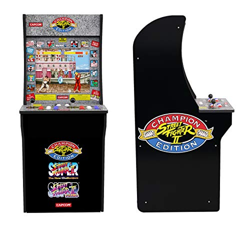 - Arcade1Up Street Fighter - Classic 3-in-1 Home Arcade, 4Ft