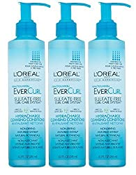Set of 3 Loreal Evercurl Hydracharge Cleansing Conditioner AntiFrizz CurlCare System 8.3 Oz