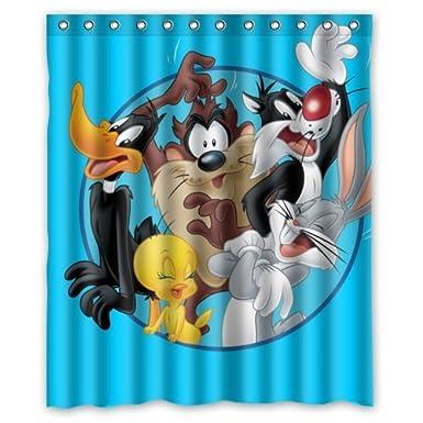 HanLu Looney Tunes Bugs Bunny Daffy Duck Custom Shower Curtain 60 Amazoncouk Electronics