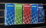 Displays2go Slatwall Literature Organizer for Brochure, 5-Pocket, Removable Divider, Set of 2, Clear (SLBR5)