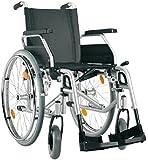 Bischoff Rollstuhl S-Eco 300, Sitzbreite 37 cm, PU Bereifung, Duo-Armlehnen, Steckachsensystem, silber