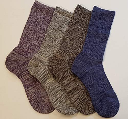 Kirkland Signature Ladies' Trail Socks Extra Fine Merino Wool (Heather Solids), 4 Pairs