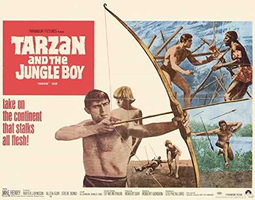 Tarzan and the Jungle Boy Placard Movie (1968) Style A 11 x 14 Inches - 28cm x 36cm (Mike Henry)(Rafer Johnson)(Aliza Gur)(Steve Treaty)(Ronald Gans)