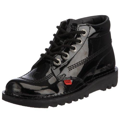 Femme Black Patent kf0000120bxw Classiques Noir Bottes Kickers 1 qcyFIw1Ip