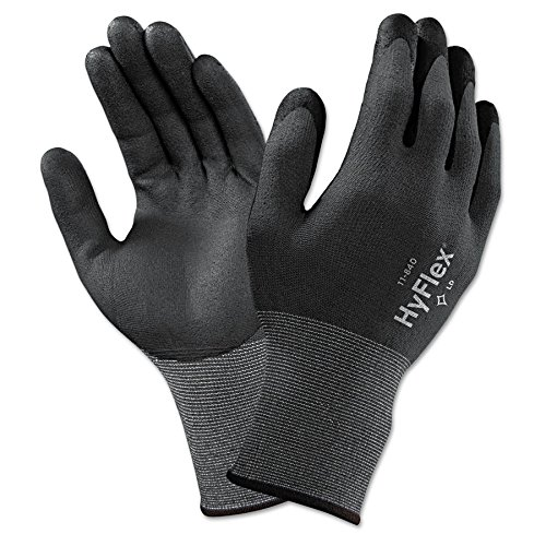HyFlex Multi-Purpose Gloves, 9, Black (10 Units) by Ansell (Image #1)