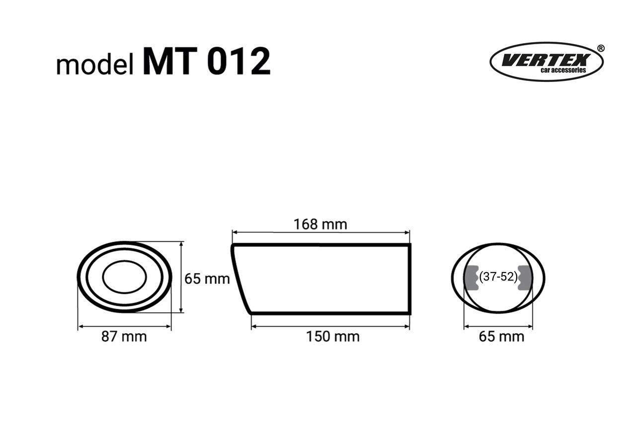 Falke MT012 Edelstahl Endrohr Auspuffblende schr/äg//rund zum anschrauben /Ø37-52 mm Sport Optik Universal Exhaust
