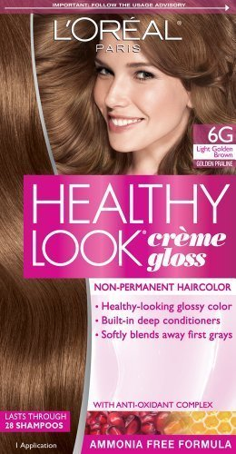 loreal paris healthy look creme gloss color light golden browngolden praline - L Oral Gloss Color