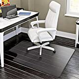 48'' x 36'' PVC Matte Desk Office Chair Floor Mat Protector for Hard Wood Floors Transparent