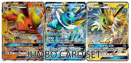 Jolteon GX - Flareon GX - Vaporeon GX - Jumbo Card Set - Premium Collection Box Promo