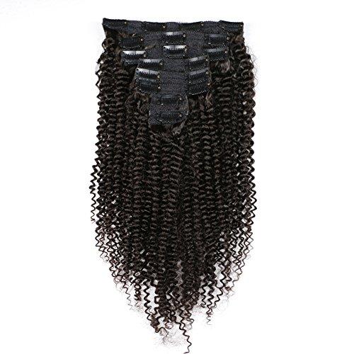 KeLang Hair Kinky Curly Clip In Human Hair Extensions Brazil