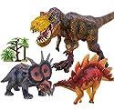 子供のための教育用プラスチック盛り合わせの恐竜のおもちゃフィギュア - 3パック、#01