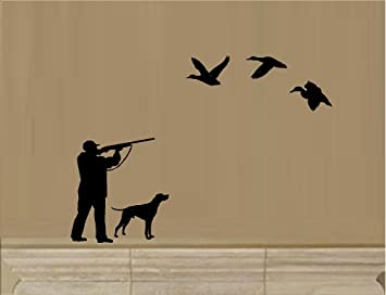 Amazoncom DUCK HUNTING HUNTER WITH DOG SHOOTING GUN BIRDS VINYL - Bird window stickers amazon
