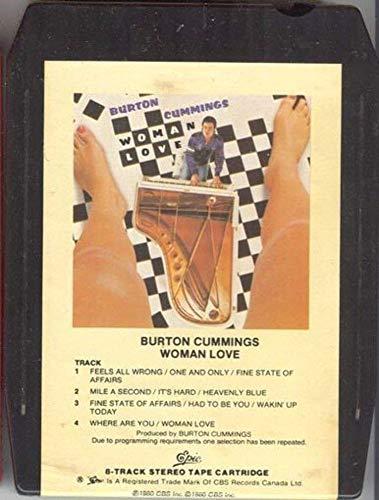 BURTON CUMMINGS Woman Love 8 Track Tape