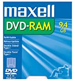Maxell DVD-RAM Media 9.4GB Double Sided Rewritable (1-Pack)