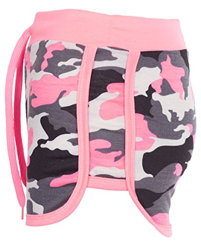 Noroze Womens Camouflage Hot Pants Ladies Army Shorts (Pink, 2XL) - Camo Military Shorts