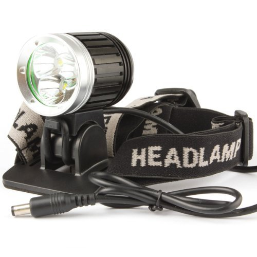 WindFire 3X CREE XM-L T6 3800Lm LED Bicycle Light, 4 Modes CREE LED Lamp Headlight, Super Bright CREE T6 LED Lighting Headlamp with Rechargeable 6400mAh battery Pack and Charger, Powerful Cree LED Bicycle Lamp Light Flashlight Torch for Outdoor Activities Like Camping, Riding, Climbing, Hiking et