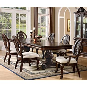 Tabitha formal pedestal dining room set 8 for Cherry formal dining room sets