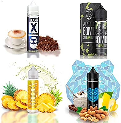 E Liquid 50 ml pack 4 unidades - Kit sin nicotina - E Liquid Beard Vape Co. Nº00