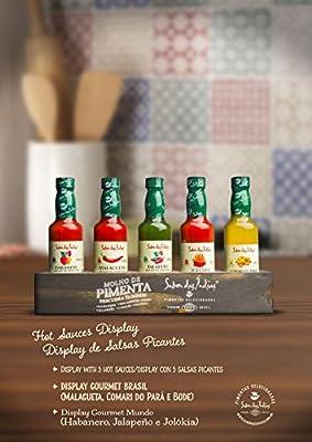 Amazon.com : Sabor das Indias Gourmet Hot Sauces Pack of 5 (Habanero, Jalapeno, Jolokia, Malagueta, Bode) - Our Top Selling Gourmet Hot Sauces With a ...