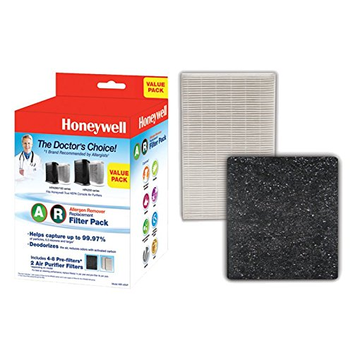 Honeywell True HEPA Filter Value Combo Pack, White
